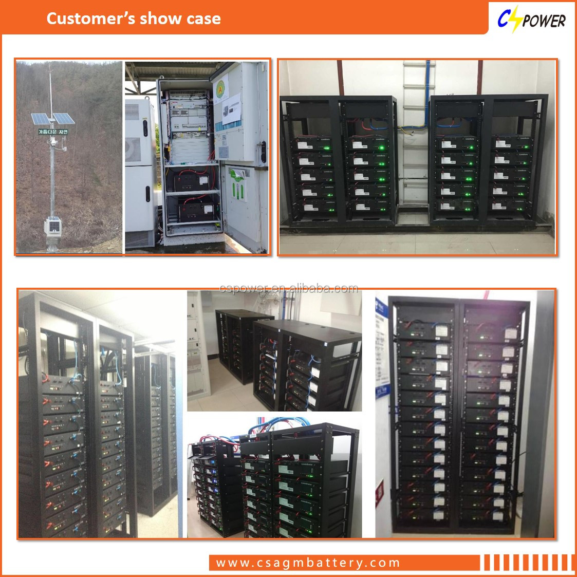 48V 1500ah Lifepo4 battery with Outdoor Telecom Battery Cabinet