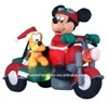2012 hot sale mini inflatable christmas Mickey Mouse on Motorcycle