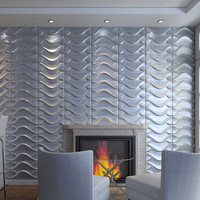 creative design embossed grc wall panel