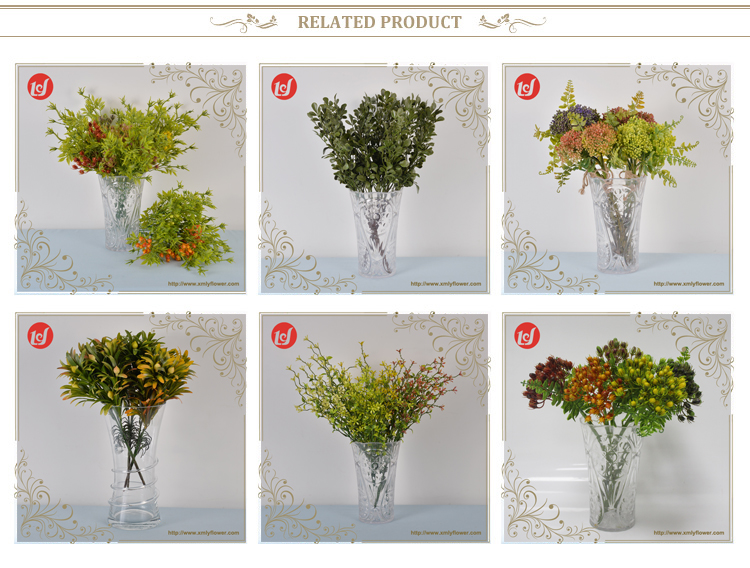 Crazy Sale Wedding Artificial Leaves Plastic Cut Tree Branch Artificial Plants and Flowers Green Artifical Leaves