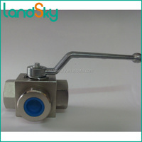 L regular reduced 4 port high pressure ball valve KHB3K-M36X2 position three-way 500bar DN20mm carbon brass stainless steel
