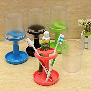 CynKen Creative Table Lamp Shape Toothbrush Holder Wash Gargle Suit