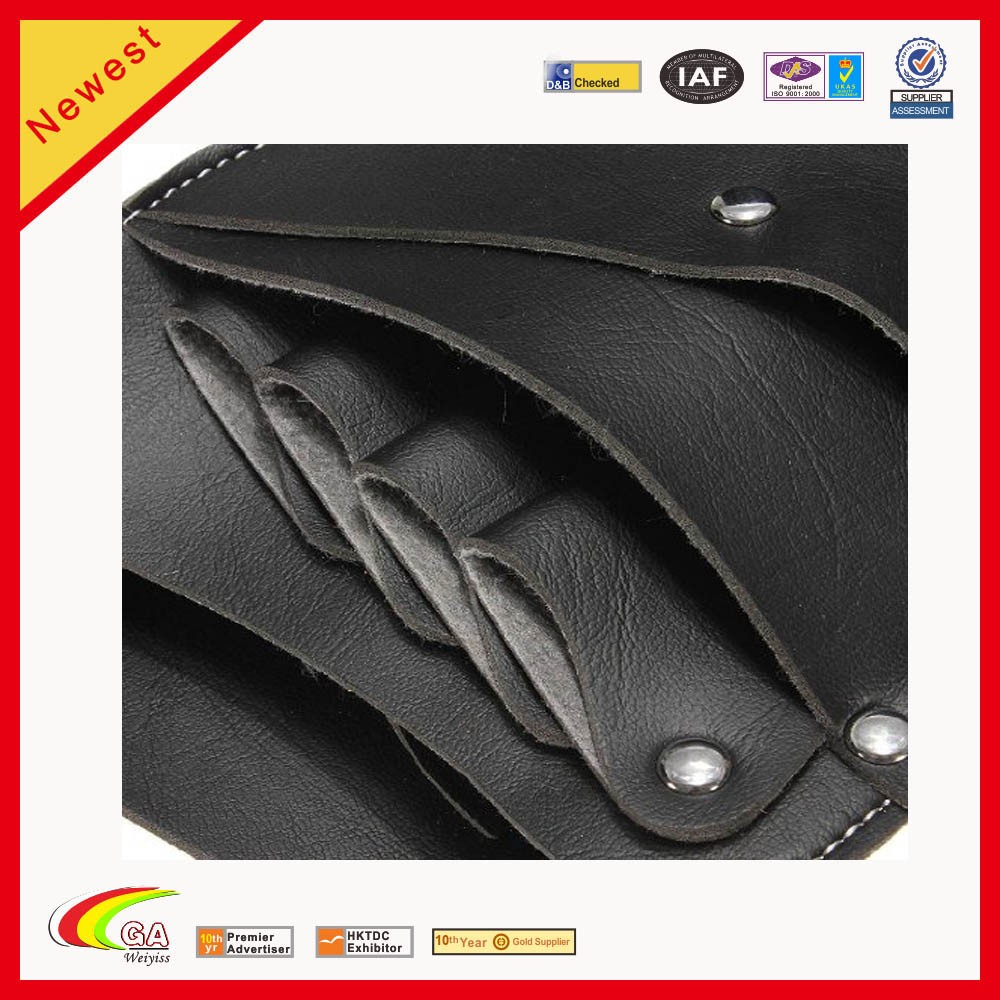 Black Salon PU Leather Hairdressing Scissors Clips Hair Cutting Combs Holster Holder Case Pouch Bag Barber Tool