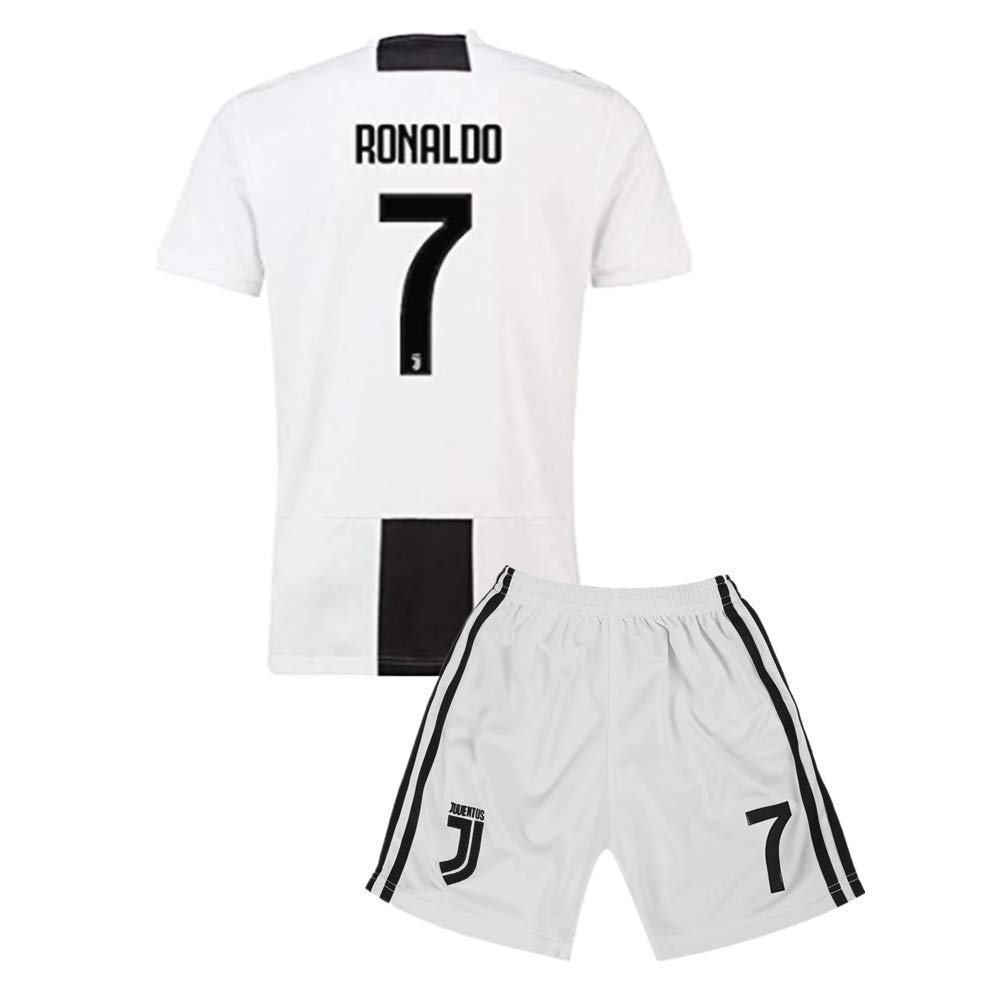 076c82af5 Get Quotations · C Ronaldo  7 Juventus Home Soccer Jersey   Short Set Mens  2018-2019 Black