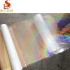 25MIC Snow patterns BOPP Transparent Holographic Thermal Lamination Film For paper board