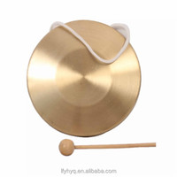 brass musical instrument gongs for sale with wooden drum sticks