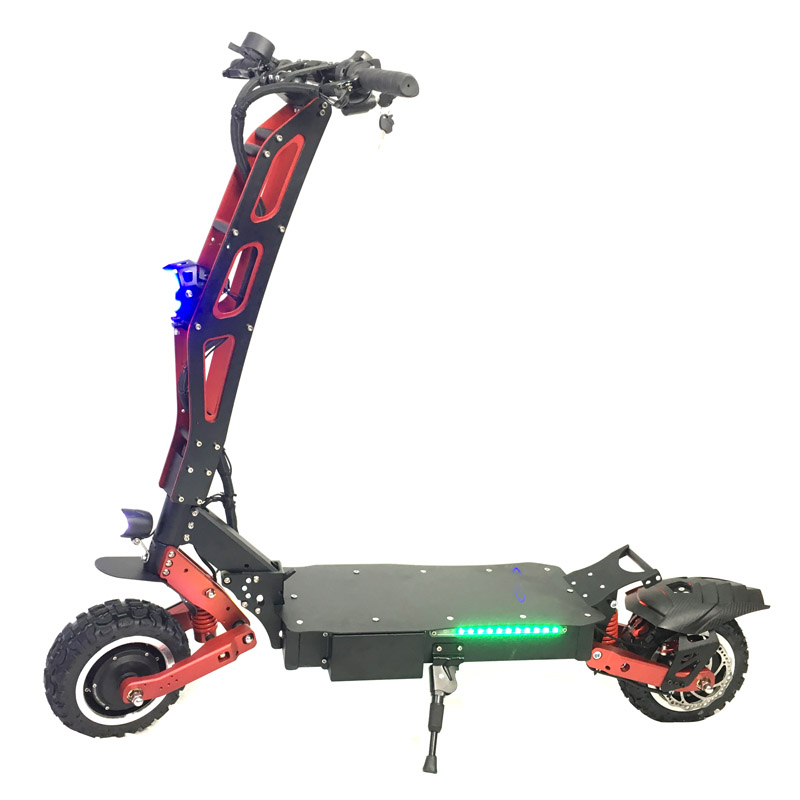 2018 China 3200W 60V e scooter foldable electric scooter 2 wheel electric bike with CE Rohs for adults, Black+red