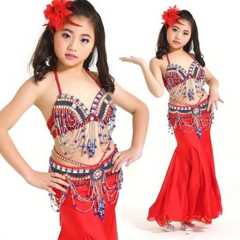 New Belly Dance Costumes Girls Kids Oriental Dance Costumes Sexy Indian Dress Children AD1235
