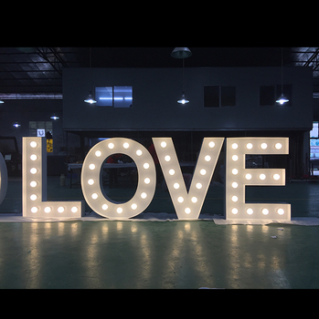 Custom Made Led Bulb Light Signs Vintage Marquee Love Sign For Wedding Party Lighting Products Parties And