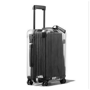 China factory supply 20' 24' Suitcase PC Transparent trolley luggage