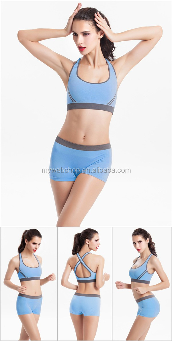 Neuer Sport-BH Seamless Bralette Yoga Wear Padding Wireless-Übungs-Laufsets