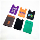 Lyrca 3M Adhesive Stick-on ID Credit Card Wallet Phone Case Pouch Sleeve Pocket for Most of Smartphones