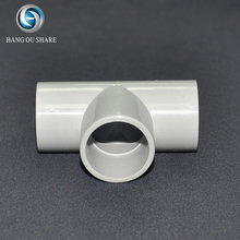 AS NZS 2053 PVC UPVC Plastic Conduit Pipe Fittings Grey MD And HD Staight Tee