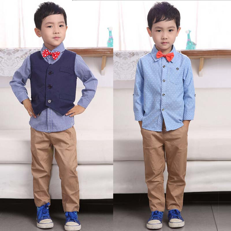 5dff8f93caae6 Buy New 2015 Children Boys Gentleman Sets Baby Boys Fashion Clothing Sets  Autumn Children Sets Kids 3 pcs sets shirt+vest+Pant in Cheap Price on  m.alibaba. ...