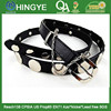 Black Color Metal Disc Strap PU Belt -- E1516