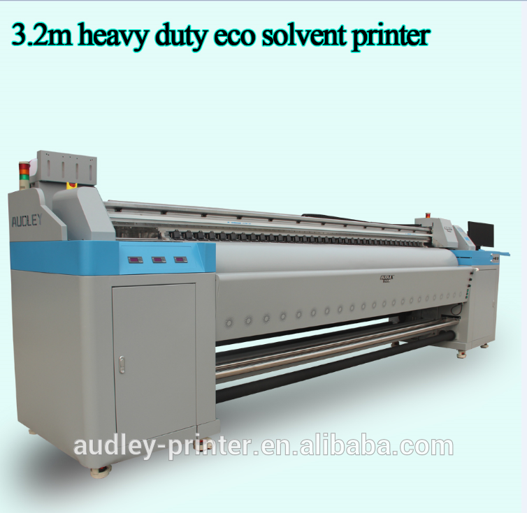 Top selling Audley brand eco solvent large format flex banner printer/wall inkjet printer H3200