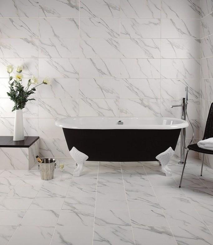 India 60x60 Faux White Bianco Marble