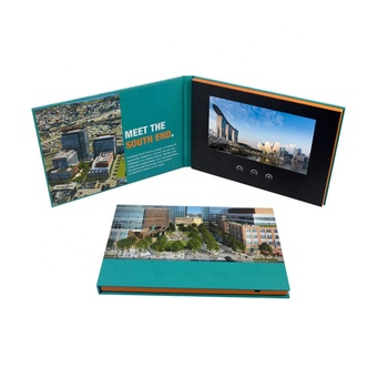 Advertising promotion video brochure card 7inch in print lcd screen book digital catalog