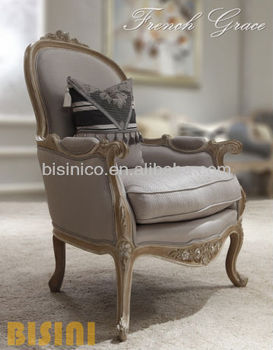 French Provincial Living Room Single Sofa - Buy French Rococo Sofa ...