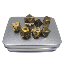 <span class=keywords><strong>Rolle</strong></span> Spielen Spiel Set von <span class=keywords><strong>7</strong></span> Solide Metall D & D Polyhedral Würfel