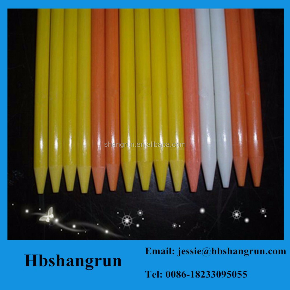 Taper end frp plastic pole/China fiberglass pultrusion profile
