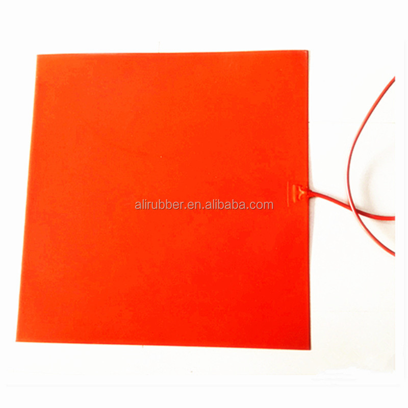 700*700*1.5mm Heat Mat for 3D Printer Flexible silicone rubber heater 220v 1500w 1000mm lead wires
