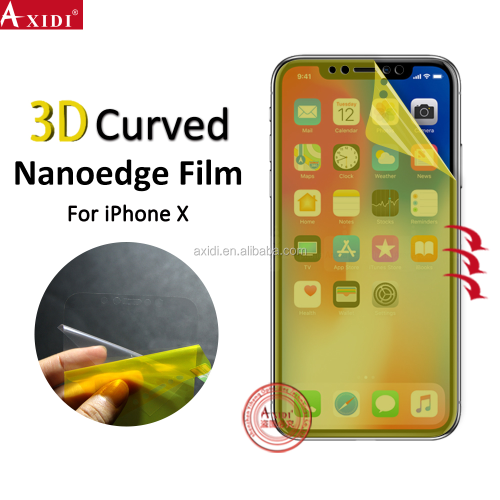 New Coming! Mobile Phone Use Liquid TPU Nano Protect Shockproof Super Adhesive HD Clear Screen Protector For Inphone X/10/ten