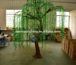 Wholesale 3D LED artificial large led christmas balls willow trees led decoration lights