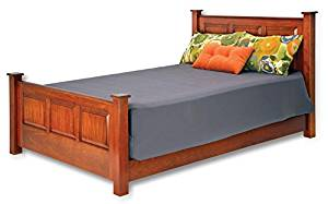 The Signature Series Wood Electric Adjustable Bed by Assured Comfort (Twin, Mahogany)