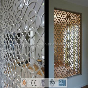 Exterior Decorative Perforated Metal Panel Dubai Room Divider Screen