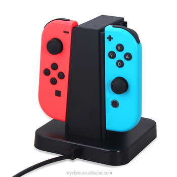 4 In 1 Joy-cons Controllers Charging Station Stand For Nintendo Switch With  Charging Cable - Buy Joy-con Charging Dock For Nintendo Switch,Controller