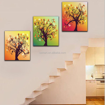Best Quality100 Handmade Wall Art Abstract Group Tree Canvas Oil Paintings For Home Decoration