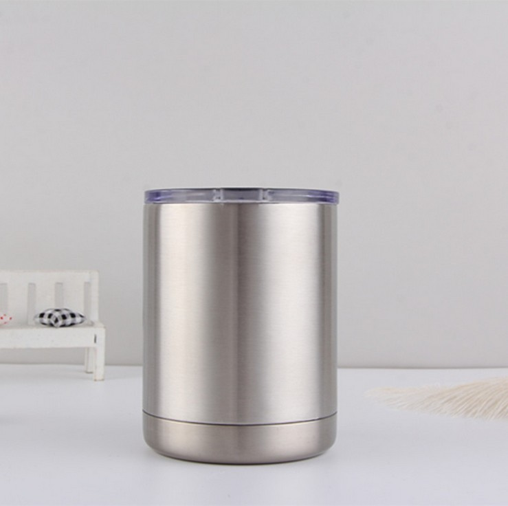 10 OZ Car Tumbler with Clear Lid High Strength Double Wall Regular Tumbler Stainless Steel Travel Tumbler фото