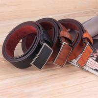 Fashion Men's Leather Casual Belt Leather Waistband Buckle Waist Strap Belt