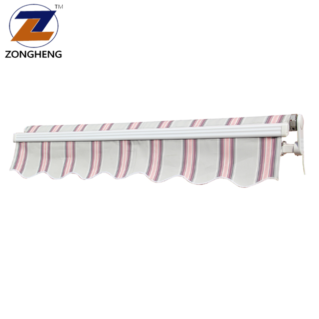 Economic sunshade outside window cassette aluminum retractable awnings with LED lamp