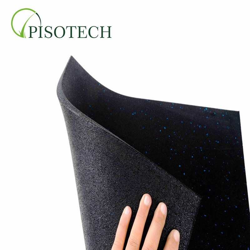 PISOTECH New Arrival Günstiger Preis Hersteller aus China Customized 1 Layer Fine Granules GYM Floor Rubber Tile