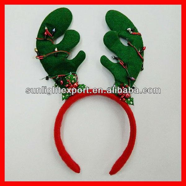 Navidad renos diadema, navidad ciervos astas diadema