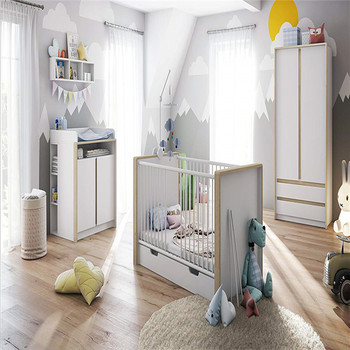 Wooden Mdf Particle Board Baby Crib