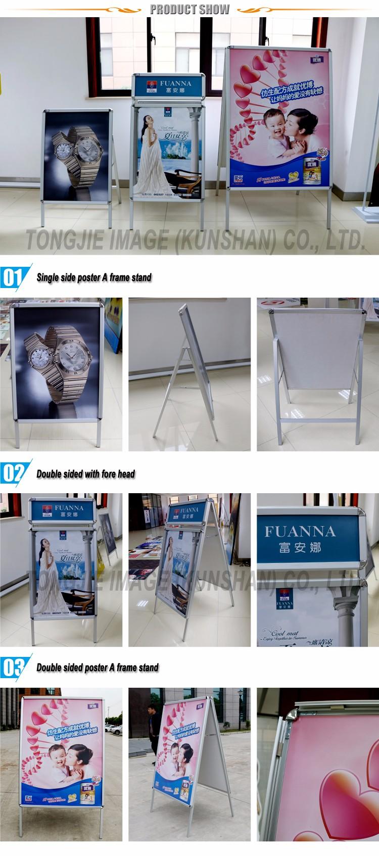 Acera Signo Metal Un Soporte Del Marco Para Publicidad - Buy Product ...