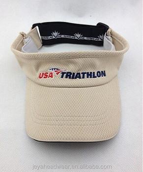 Moisture Wicking Mesh Golf Visor Hat Perforated Dry Fit Mesh Sport Sun  Visor Cap 3a77de20455
