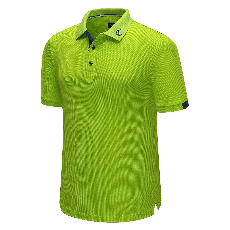 Calladick Polyester Material Men's Polo Shirt Green Color Polo Shirt