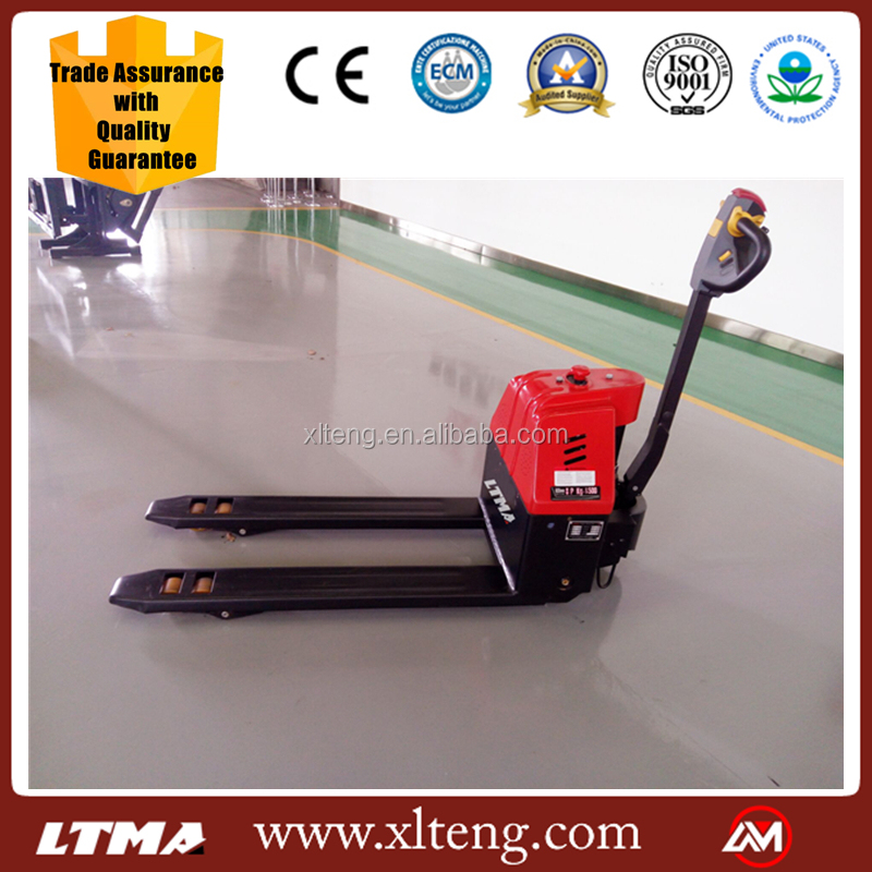 LTMA 1.5ton small automatic hand electric jack pallet lift trucks pallet lifter