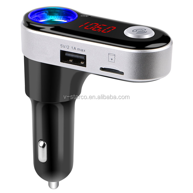 BC09B Promotions Rechargeable bluetooth car mp3 player fm transmitter For phone