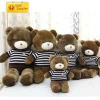 high quality birthday gift Sitting Plush Teddy Bear Stuffed Toy In Tshirt