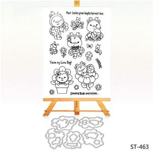 Lovely animals design clear stamp craft metal cutting dies for DIY scrapbooking
