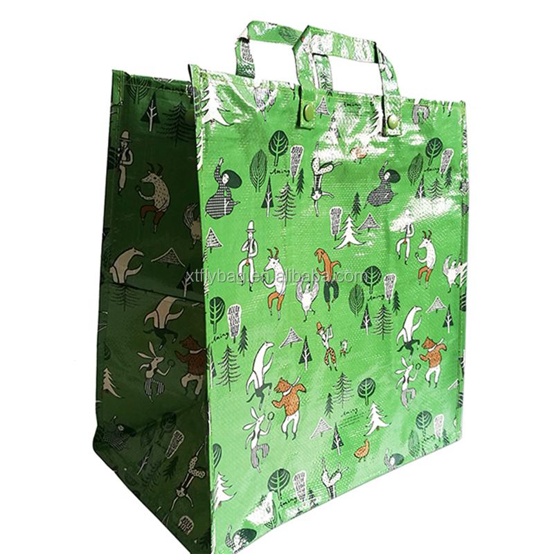 8a9f812791dd 2018 популярная полноцветная печать трехслойная ламинированная  полипропиленовая сумка-шоппер для бакалея/многоразовый пакет для