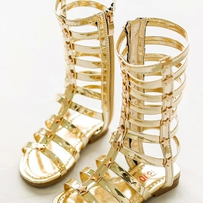 574b043a73a02 2015 summer girls sandals children knee high gladiator sandals kids summer  sandals for girls gold silver kids boot sandals 011