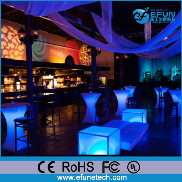 outdoor bar furniture illuminated cube seating rgb color changing light up clear plastic cube chair