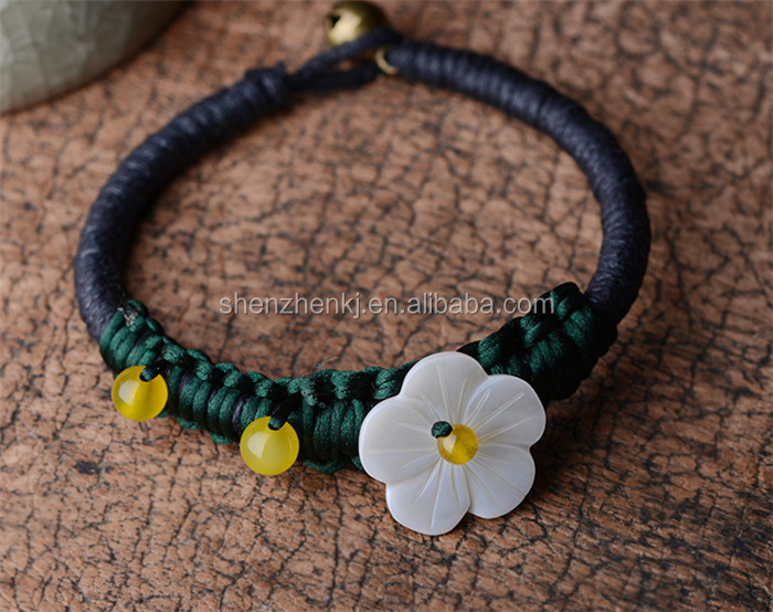 Fashion Handmade National style Women bracelet flower bell bracelet
