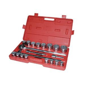 "20 PCS 3/4"" Socket Set 19-50 mm Extension Bars Ratchet Handle 16 sockets"